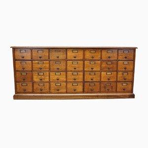 Mueble de farmacia francés de roble, años 30