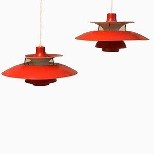 Model PH5 Pendant Lamp by Poul Henningsen for Louis Poulsen, 1970s, Set of 2