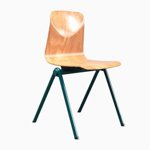 Oak & Kaki Dining Chair from Ahrend, 1960s