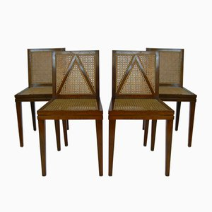 Cherry Wood Dining Chairs by Luca Scacchetti for Sellaro Arredamenti, 1980s, Set of 4
