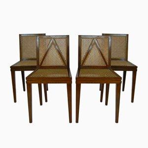 Esszimmerstühle aus Kirschholz von Luca Scacchetti für Sellaro Arredamenti, 1980er, 4er Set
