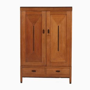 Art Deco Haagse School Oak Armoire, 1920s