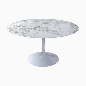 Mesa de comedor de mármol Arabescato de Eero Saarinen para Knoll, años 50