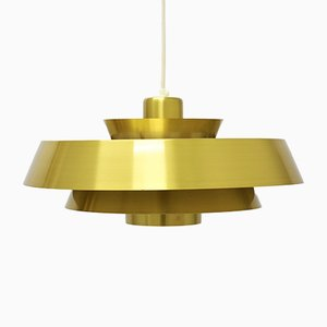 Brass Nova Pendants by Jo Hammerborg for Fog & Mørup, 1950s, Set of 2