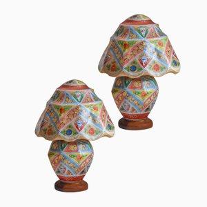 Vintage Tischlampen aus Kamelleder, 1950er, 2er Set