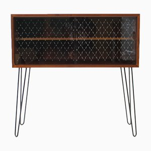 Danish Teak & Glass Cabinet, 1960s