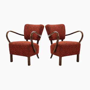 Lounge Chairs by J.Halabala for UP Závody, 1950s, Set of 2