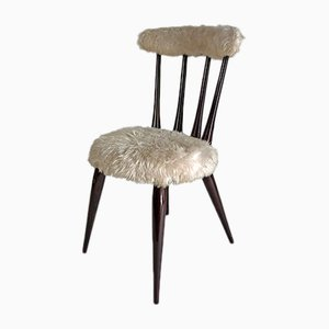Vintage Faux Fur Chair
