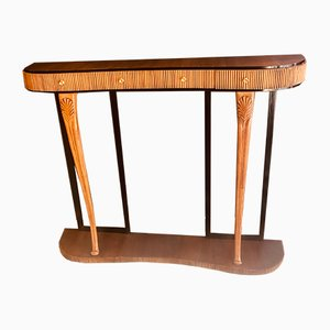 Mid-Century Italian Tall Walnut Console Table by Pier Luigi Colli