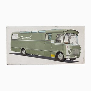 Vintage P.A. Oosthoek Werbetafel, 1960er