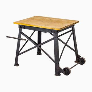 Table Industrielle Vintage en Fonte, 1930s