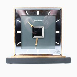 Double-Sided Art Deco Desk Clock by Jaeger Le Coultre, 1930s