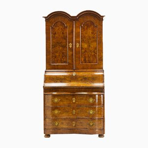 18th Century German Double Dome Walnut Secretaire