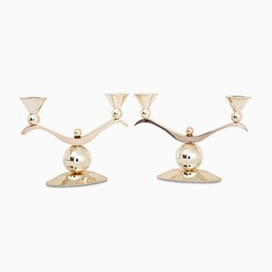 Art Deco Candle Holders, 1920s, Set of 2