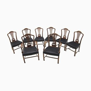 Early 20th Century Dining Chairs, Set of 8