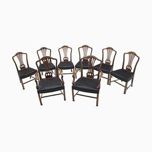 Esszimmerstühle aus dem frühem 20. Jahrhundert, 8er Set