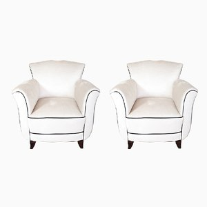 Art Deco Style Club Chairs, 1940s, Set of 2