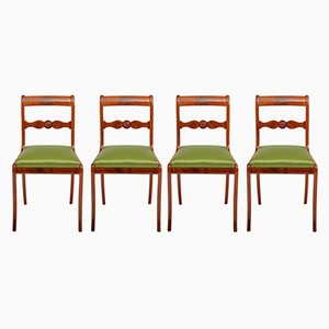 Antike deutsche Esszimmerstühle, 4er Set