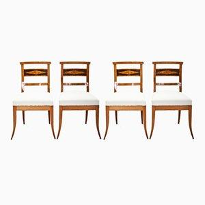 Antike Biedermeier Stühle, 4er Set