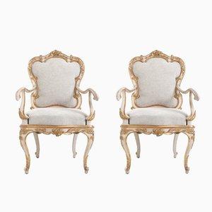 Antike italienische Sessel, 2er Set