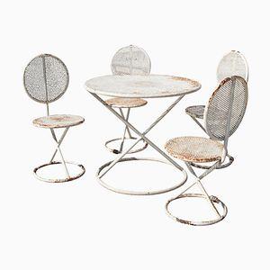 Runder italienischer Mid-Century Tisch mit Stühlen
