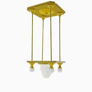 Lámpara de techo vienesa modernista, década de 1900