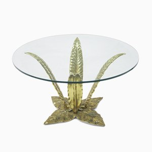 Hollywood Regency Italian Brass Side Table, 1970s