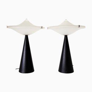 Lámparas de mesa italianas de Lumina, años 80. Juego de 2