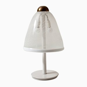 Tischlampe aus Muranoglas, 1980er