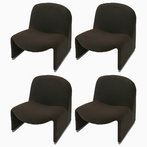 Vintage Alky Lounge Chairs by Giancarlo Piretti for Castelli, 1970s, Set of 4