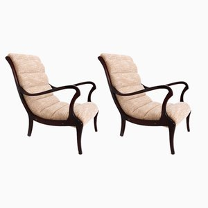 Vintage Italian Armchairs by Ezio Longhi, 1950s, Set of 2