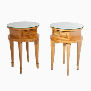 Vintage Side Tables, 1940s, Set of 2