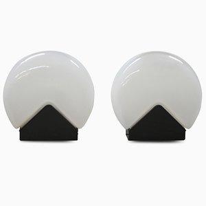Lámparas de mesa italianas de Roberto Pamio para Leucos, años 70. Juego de 2