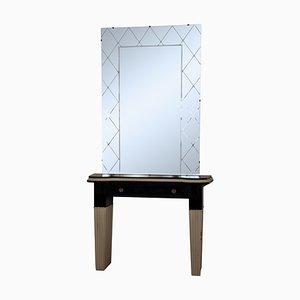 Consola italiana Mid-Century con espejo