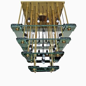 Large Vintage Chandelier from Acerbis