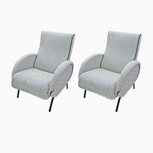 Italienische Sessel von Dormiveglia, 1950er, 2er Set