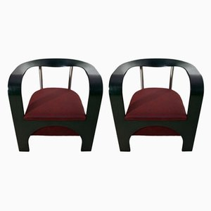 Italian Armchairs from Giugario Design, 1980s, Set of 2