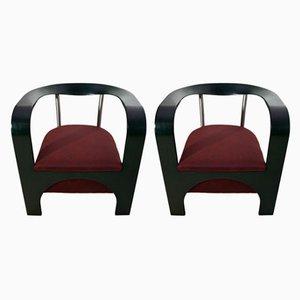 Italienische Sessel von Giugario Design, 1980er, 2er Set