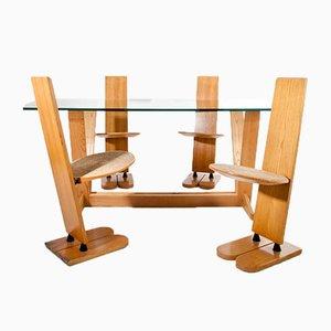 Juego de mesa y sillas Pala vintage de Gigi Sabadin para Emme, años 70