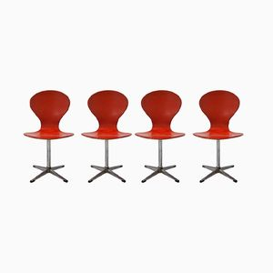 Vintage Swivel Chairs from Benze, Set of 4
