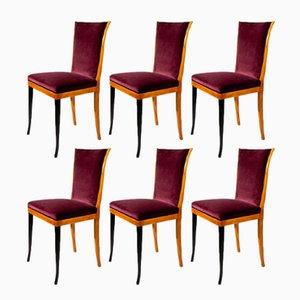 Chaises de Salon Mid-Century, Italie, Set de 6