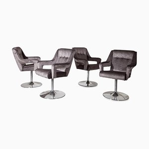 Mid-Century Italian Swivel Chairs, Set of 8