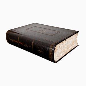 Caja francesa con forma de libro, siglo XIX