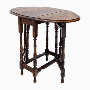 Table d'Appoint avec Pieds de Portail, 19ème Siècle
