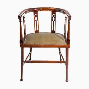 Silla de escritorio inglesa antigua, década del 1900