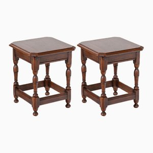Side Tables, 1920s, Set of 2
