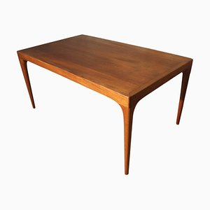 Vintage Danish Teak Extendable Dining Table by Johannes Andersen for Mobelfabrik Uldum