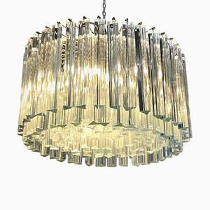 Italian Glass Chandelier from Venini, 1940s