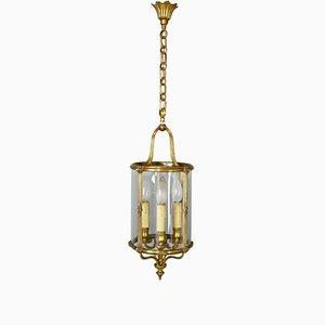 Vintage French Bronze Four Light Hall Lantern