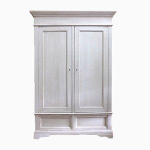 Antiker italienischer Kleiderschrank in Weiß